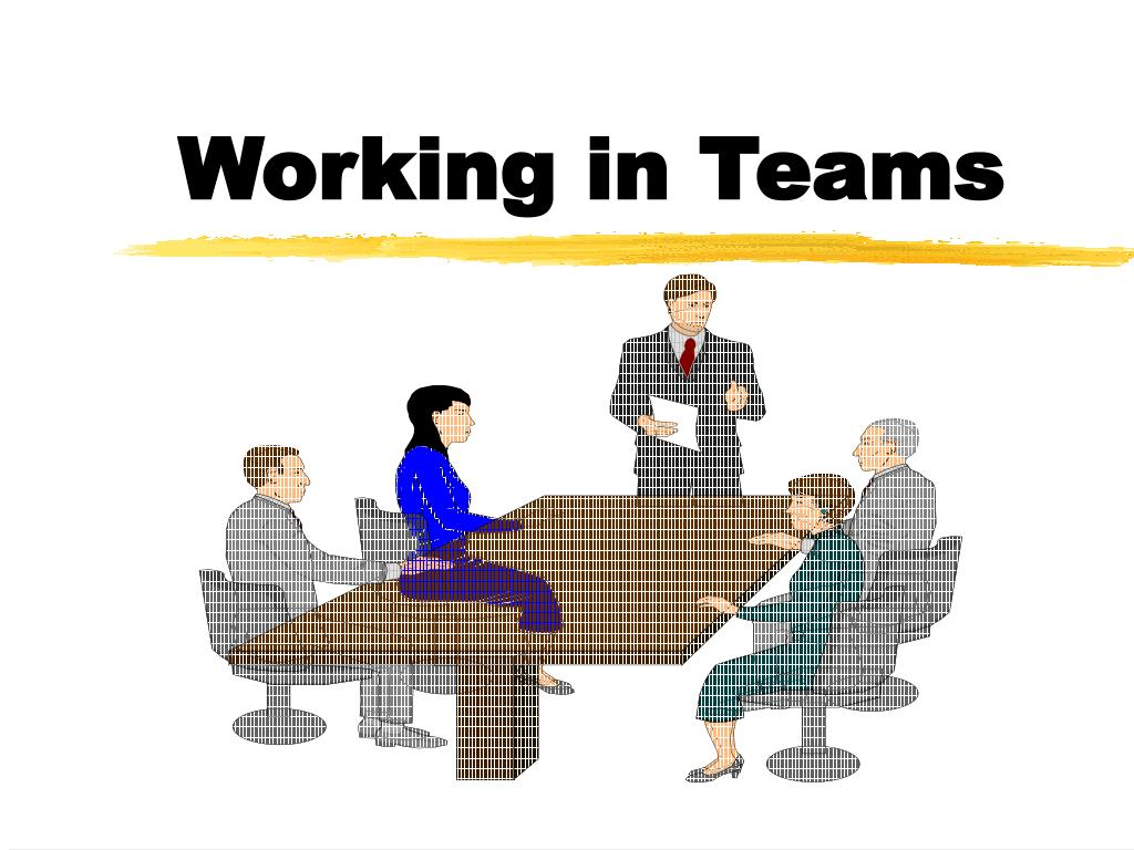 working in teams l.