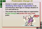 predictable change 3