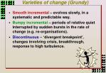 varieties of change grundy