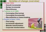 varieties of change overview