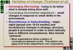 varieties of change tushman et al
