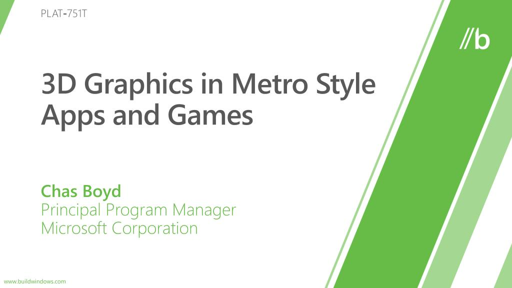 3d graphics in metro style apps and games l.