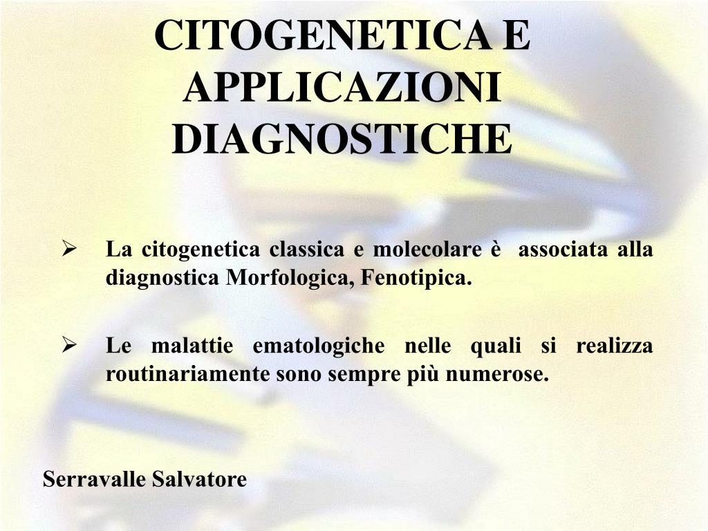 citogenetica e applicazioni diagnostiche l.