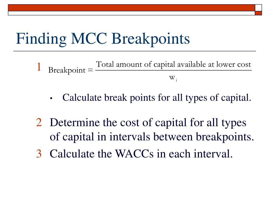 Finding MCC Breakpoints