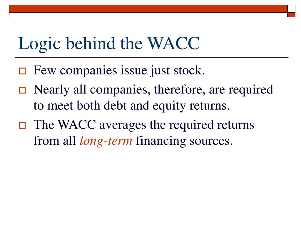 Logic behind the WACC