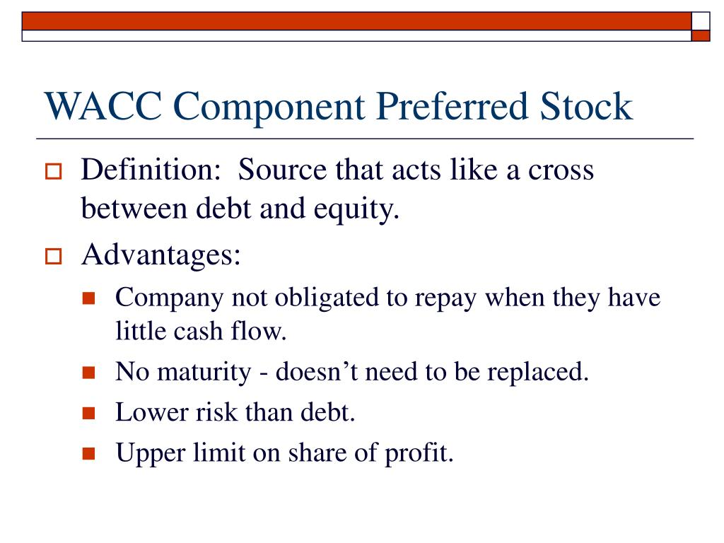 WACC Component Preferred Stock