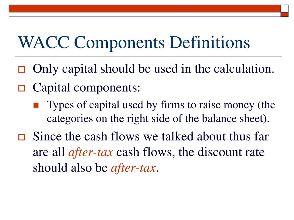 WACC Components Definitions
