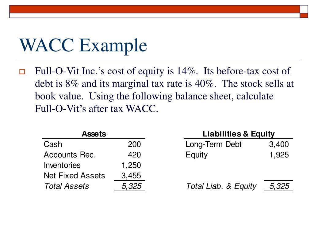 WACC Example