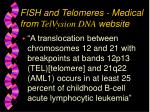 fish and telomeres medical from telvysion dna website