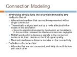 connection modeling