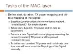 tasks of the mac layer