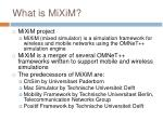 what is mixim