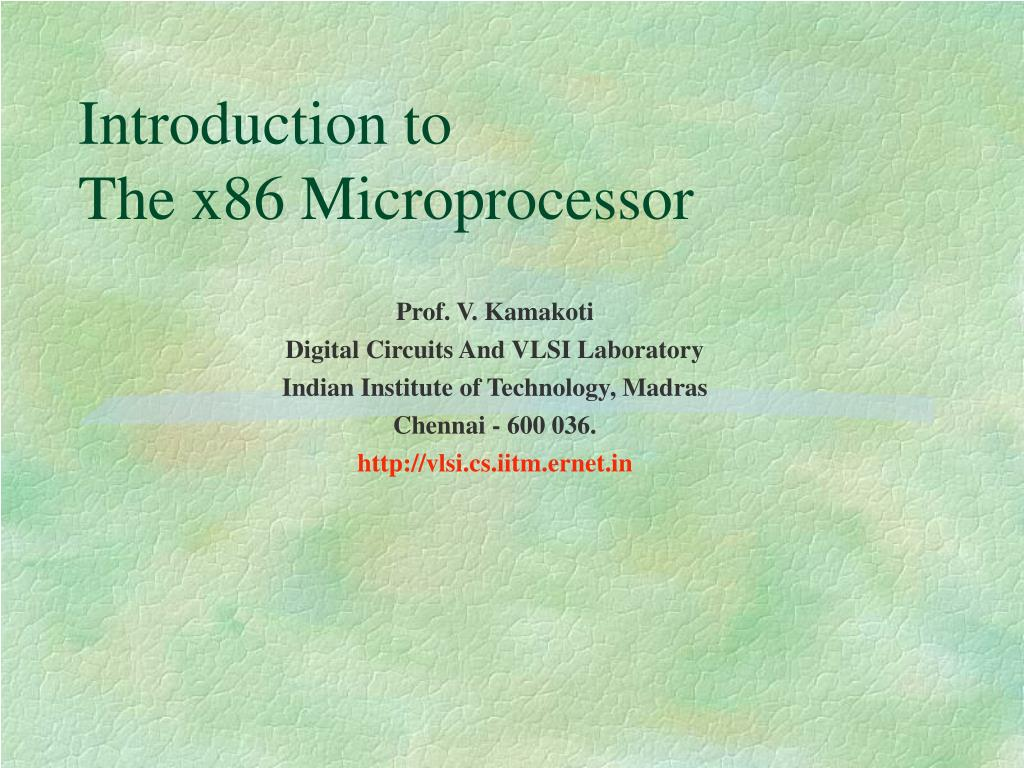 introduction to the x86 microprocessor l.