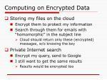 computing on encrypted data
