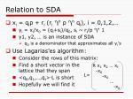 relation to sda