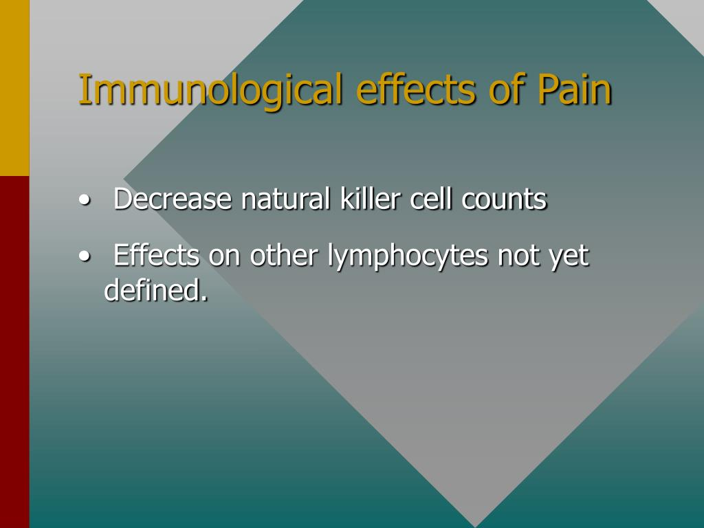 Immunological effects of Pain