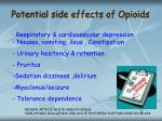 potential side effects of opioids