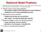 relational model problems