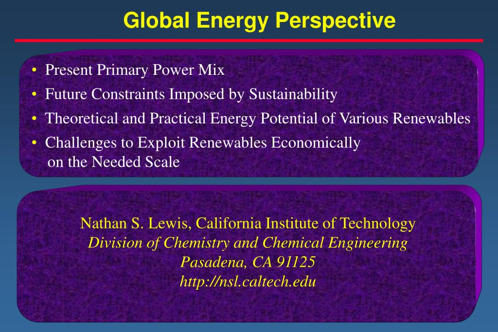 global energy perspective l.