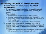 assessing the firm s current position7