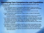 identifying core competencies and capabilities19