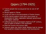 qajars 1794 1925