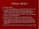 twelver shi ism