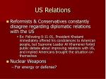 us relations