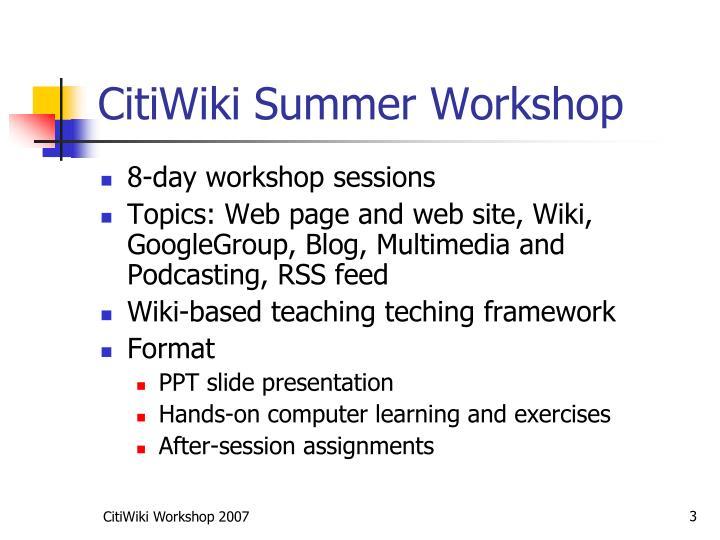 Citiwiki summer workshop3