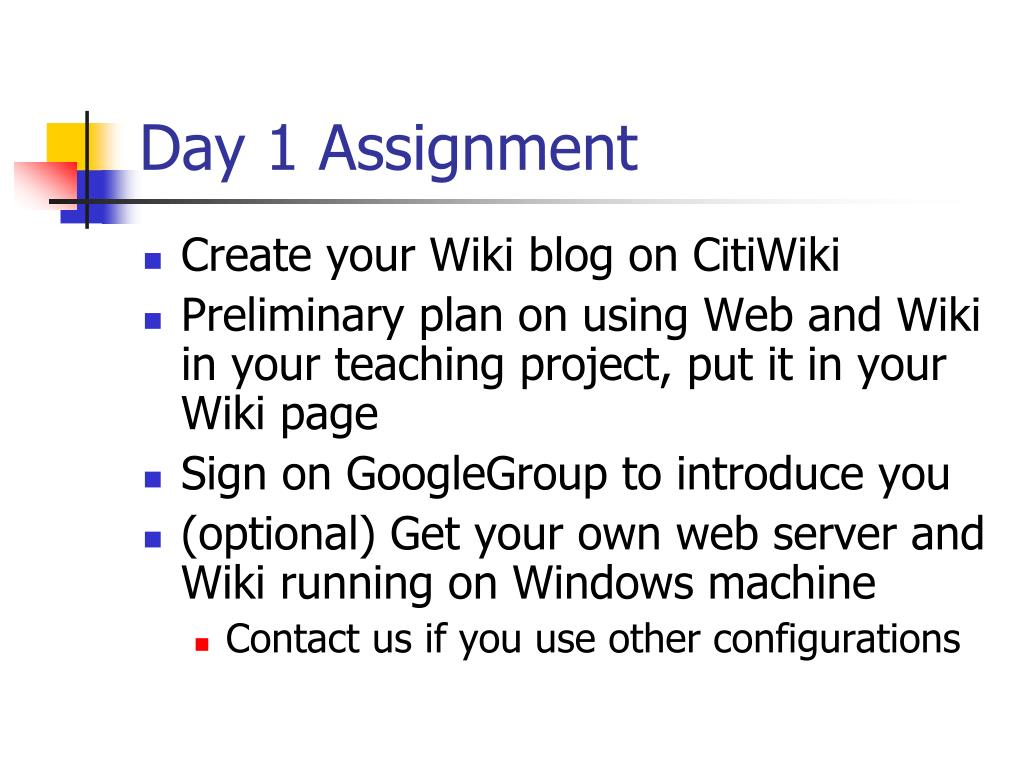 Day 1 Assignment