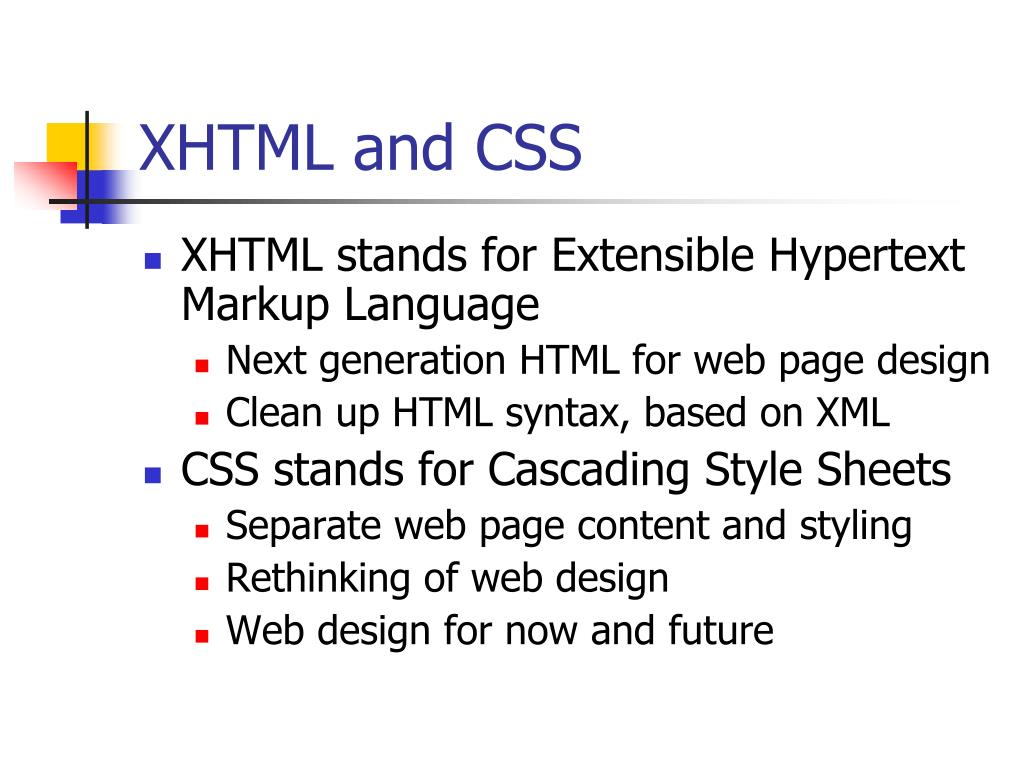 XHTML and CSS
