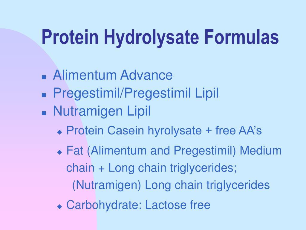Protein Hydrolysate Formulas