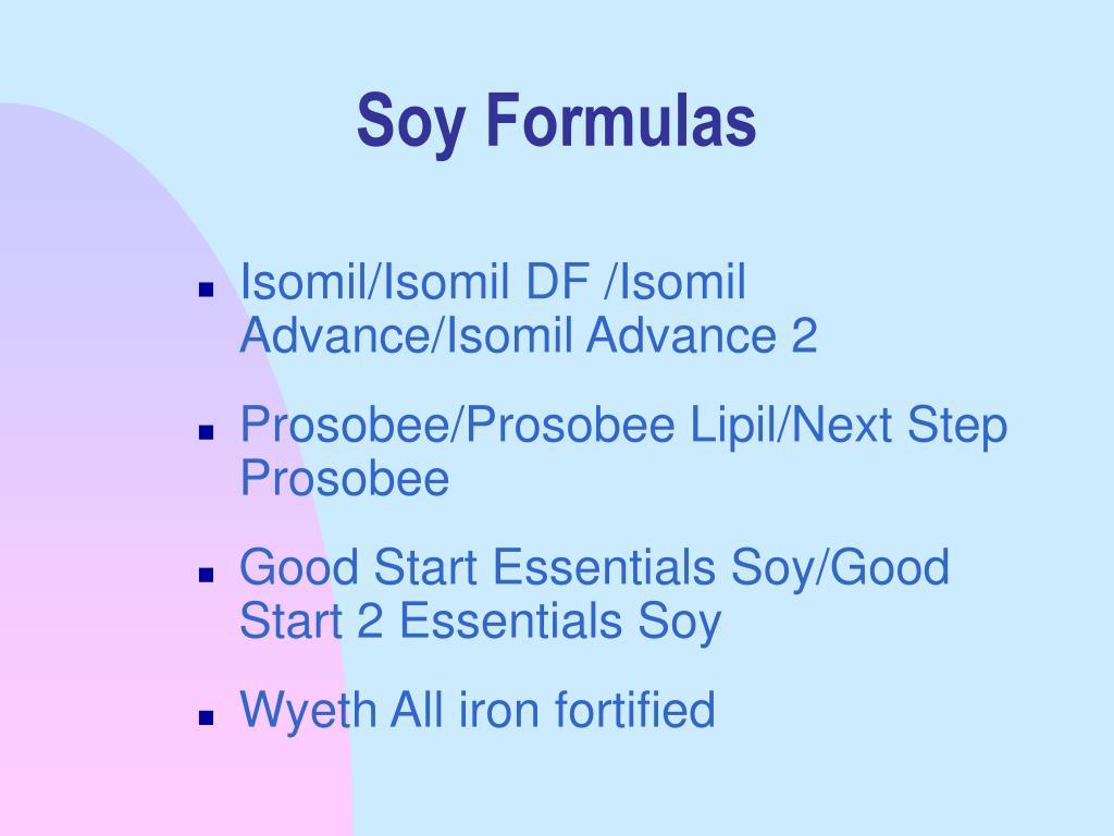 Soy Formulas