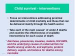 child survival interventions