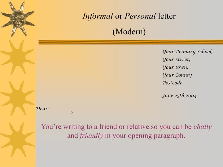 foreign friend informal letter An informal letter to a friend refusing an invitation the language skill for people aiming for higher scores is to see how phrasal verbs can impress.