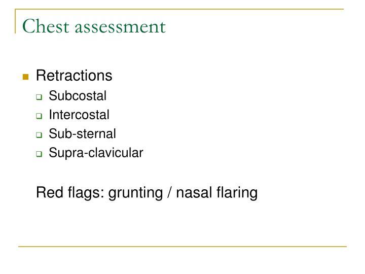 Chest assessment