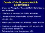 sepsis y falla organica multiple epidemiologia