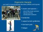 ergonomic hazards29