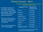 physical hazards noise
