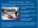 physical hazards noise18