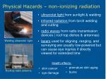 physical hazards non ionizing radiation