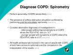 diagnose copd spirometry