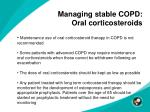 managing stable copd oral corticosteroids