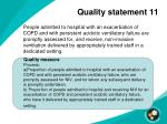 quality statement 11
