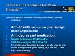 what is the treatment for panic disorder