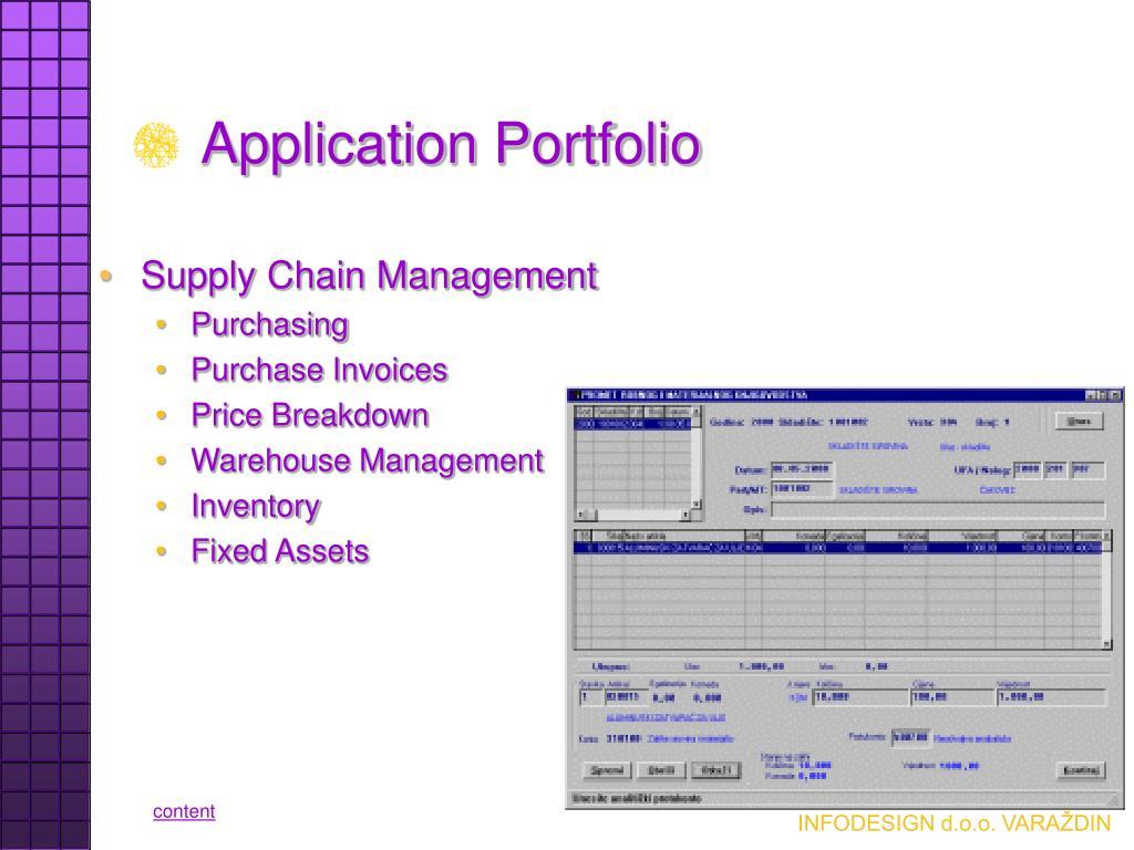 Application Portfolio