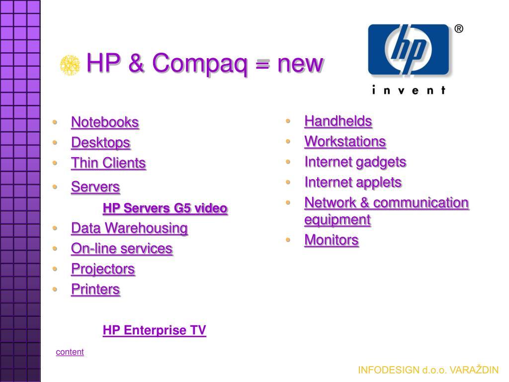 HP & Compaq = new