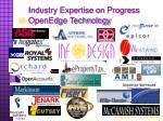 industry expertise on progress openedge technology