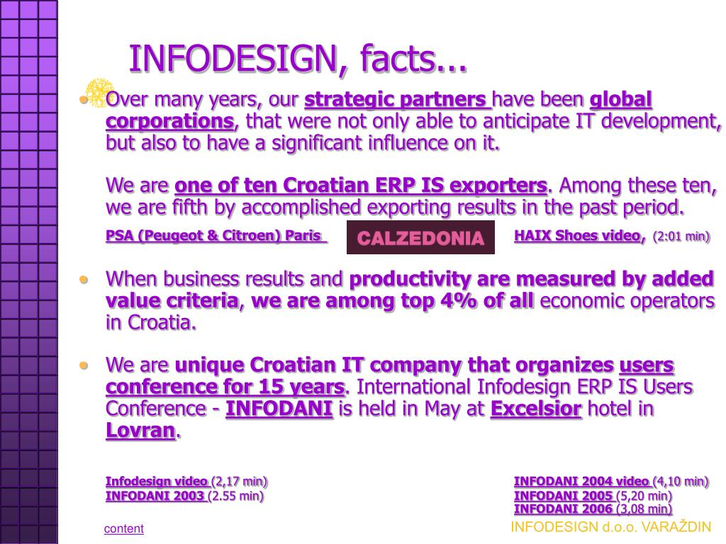 INFODESIGN, facts...