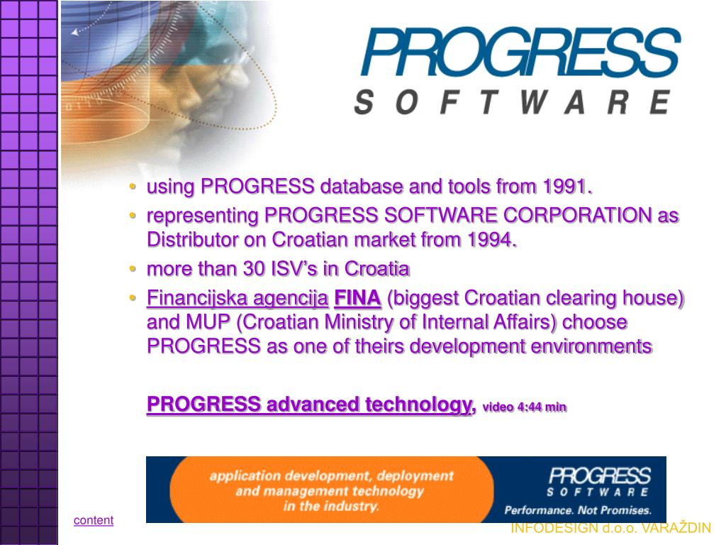 using PROGRESS database and tools from 1991.